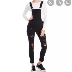 Dollhouse Distressed skinny overalls/ Jumpsuit